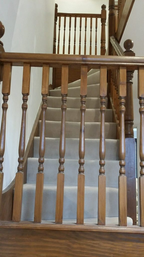 Stained balustrade