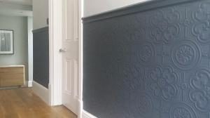 Farrow and Ball off black & strong white woodwork