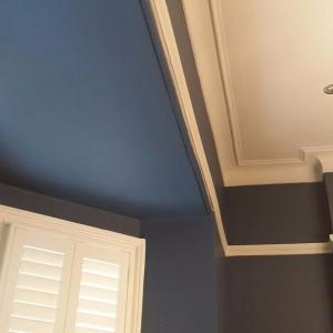 Farrow and Ball Stiffkey Blue and cornforth white