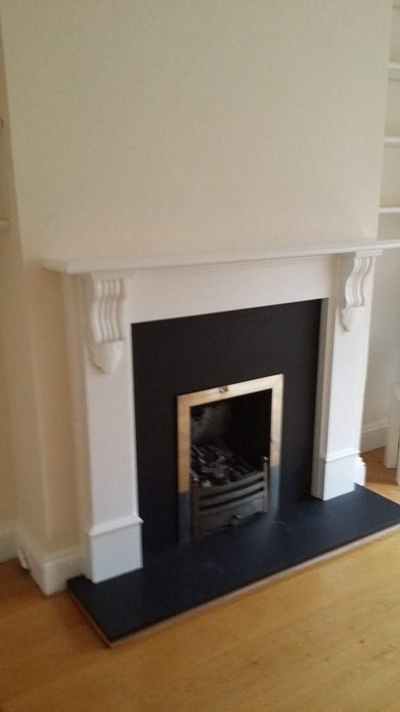 finished fireplace surround