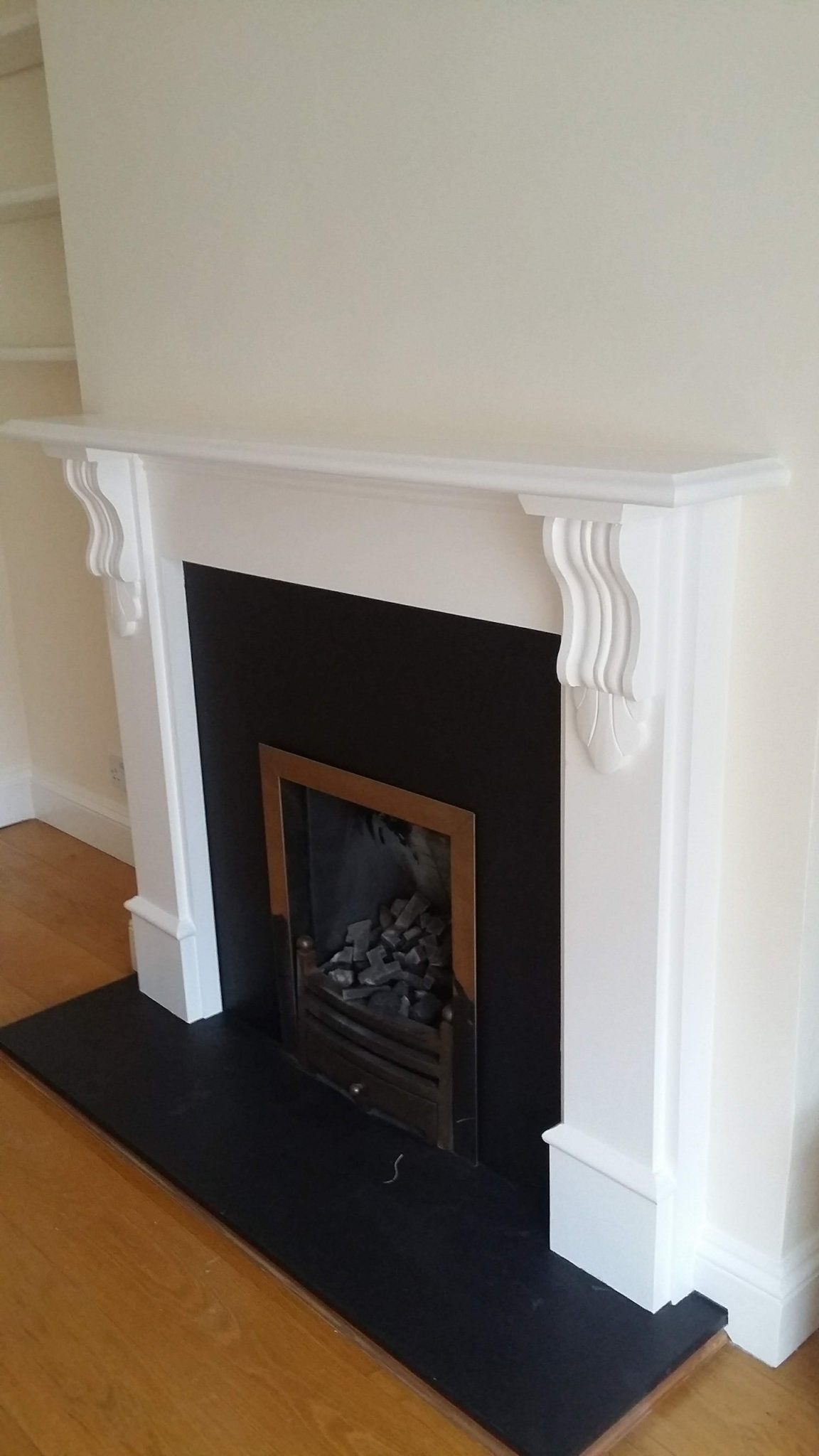 Refinishing A Fireplace Surround How, How To Sand A Wooden Fire Surround