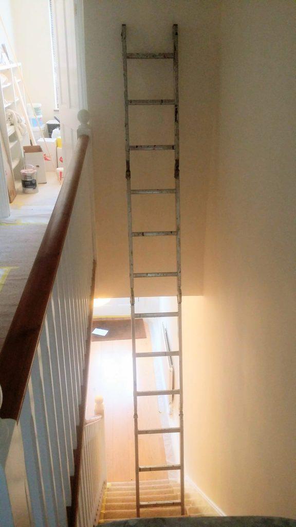 fully extended ladder