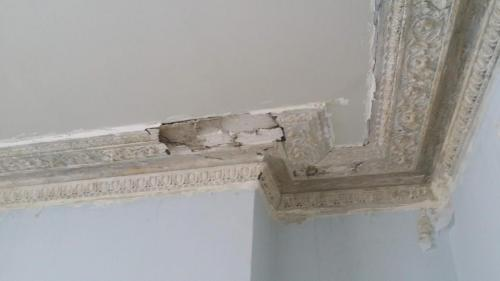Cornice to be repaired