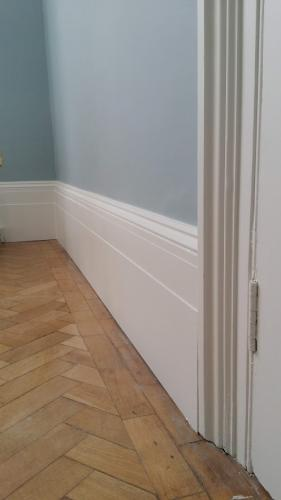 Doors and woodwork sprayed in Farrow and Ball's All White