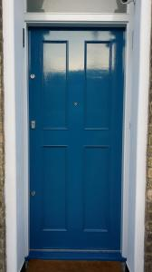 Bespoke front door Dulux Weathershield Sea Urchin