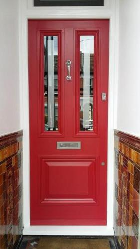 Farrow and Ball Rectory red front door